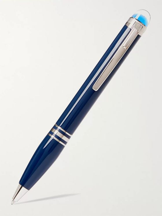 Montblanc StarWalker Blue Planet Resin and Platinum-Plated Ballpoint Pen
