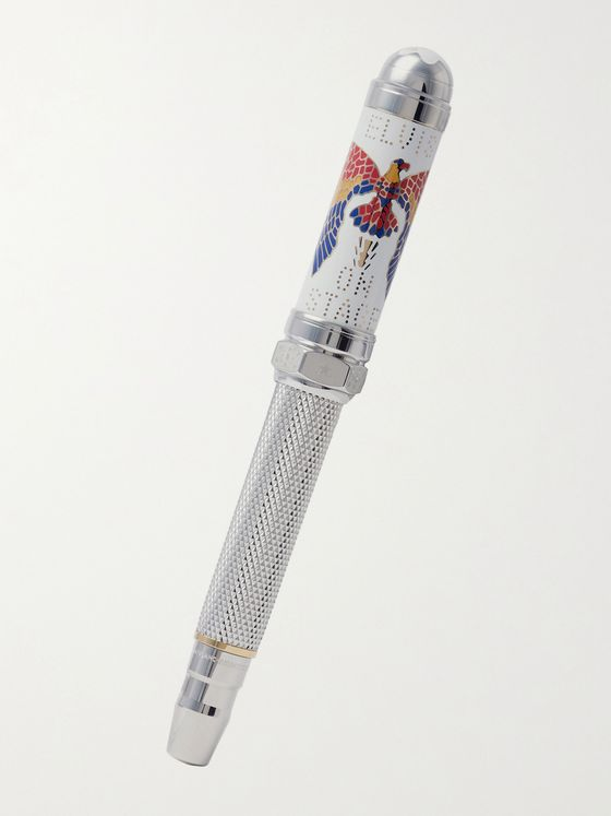 MONTBLANC 1935 Elvis Presley Limited Edition Gold- and Platinum-Plated Rollerball Pen