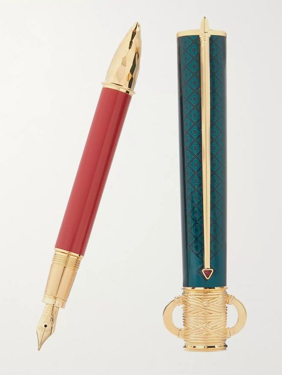 Montblanc #4810 Moctezuma I Gold-Tone and Resin Fountain Pen