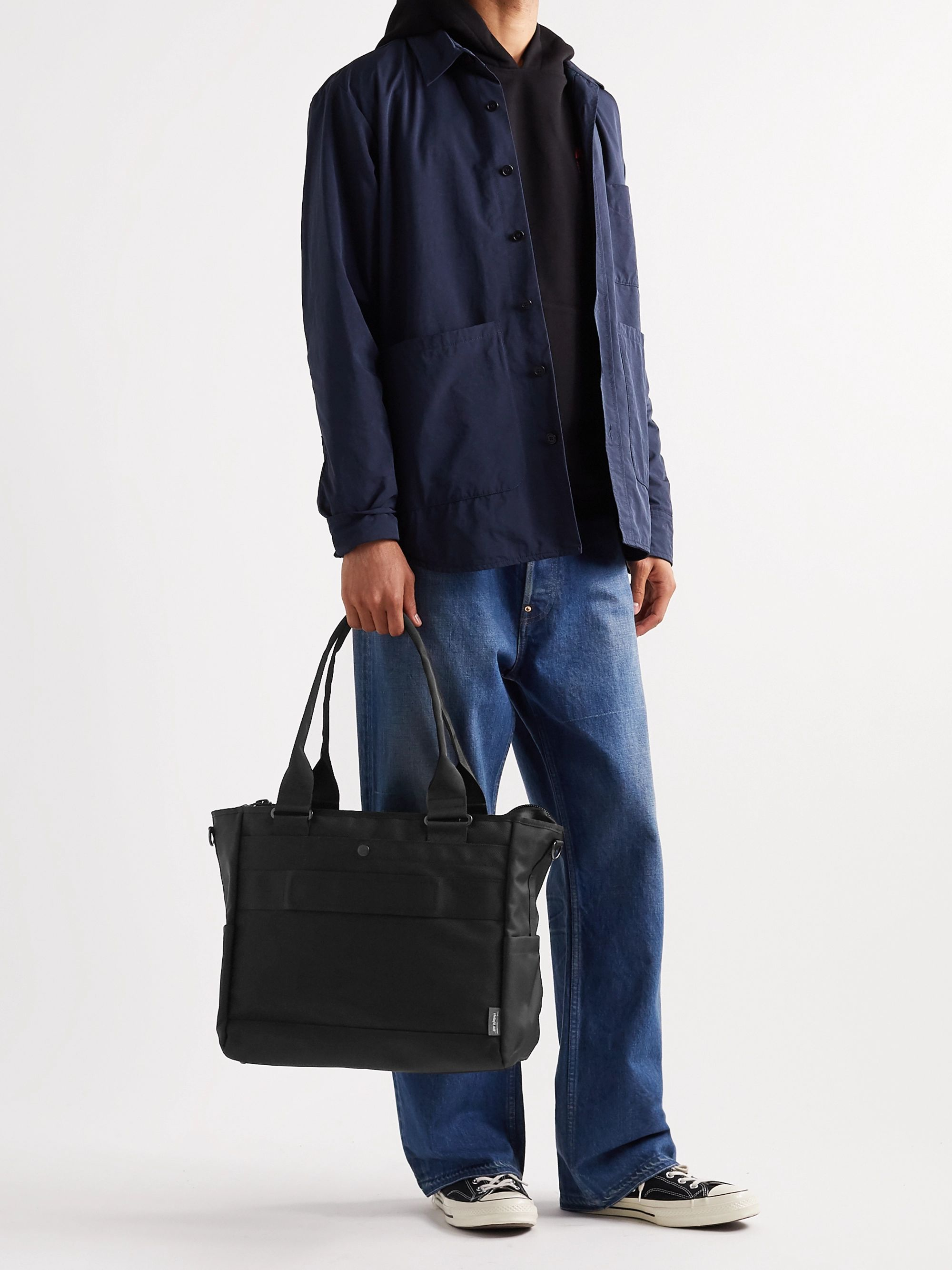 Master-Piece Leather-Trimmed MASTERTEX-08 Tote Bag