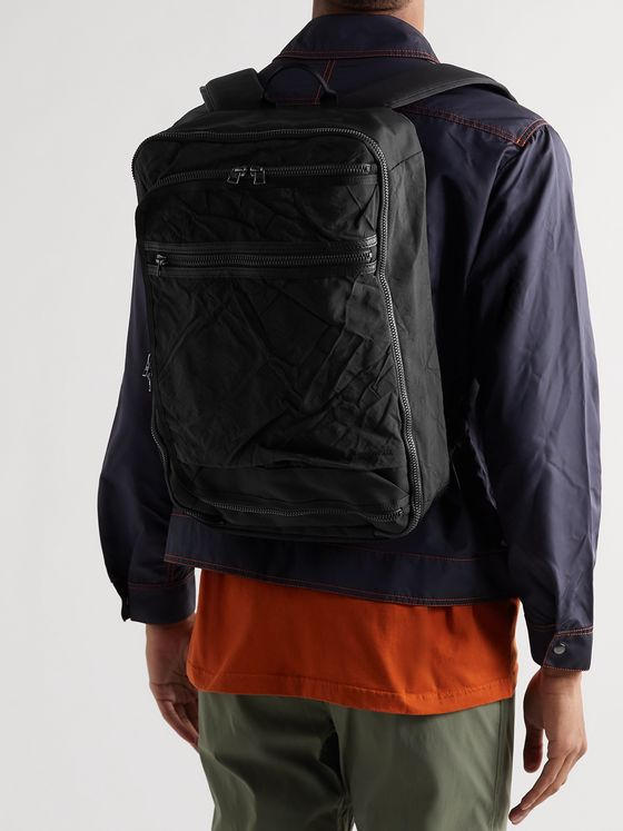 MASTER-PIECE + Rebirth Project Leather-Trimmed Nylon and Canvas Backpack