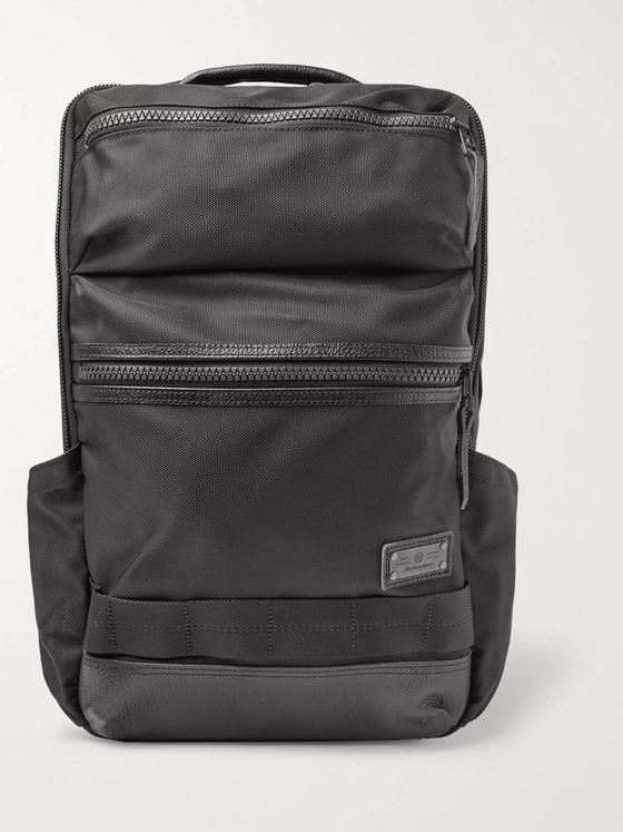 Master-Piece Leather-Trimmed MASTERTEX-08 Backpack