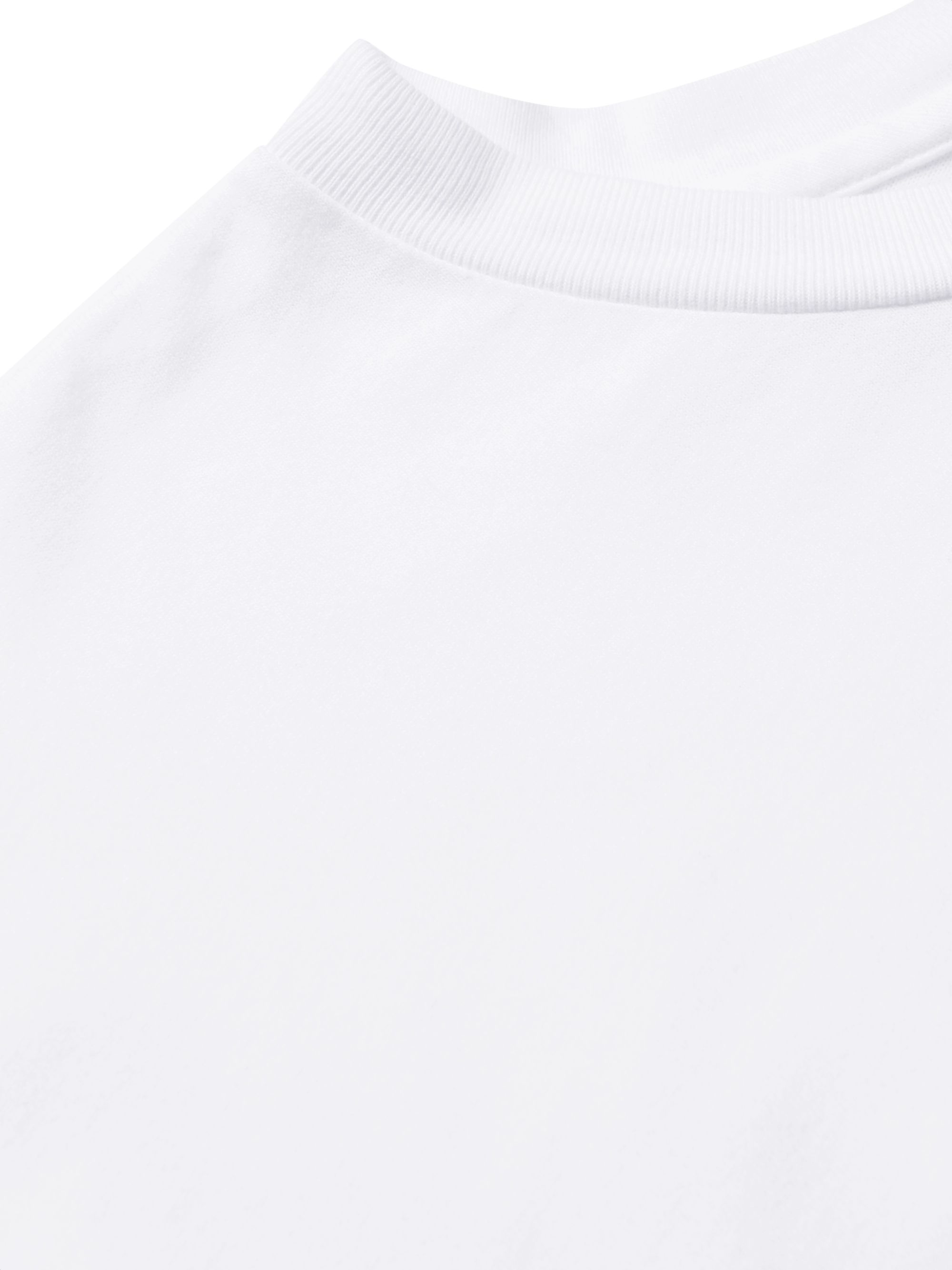 White Embellished Garment-dyed Cotton-jersey T-shirt | Sorry In Advance
