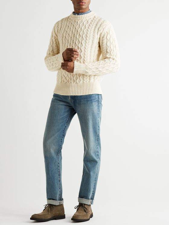 MR P. Cable-Knit Alpaca-Blend Sweater