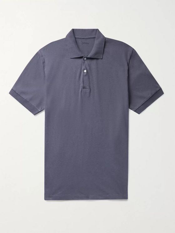 Bellerose Cotton and Linen-Blend Jersey Polo Shirt