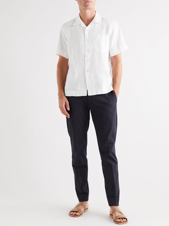 Bellerose Camp-Collar Linen Shirt
