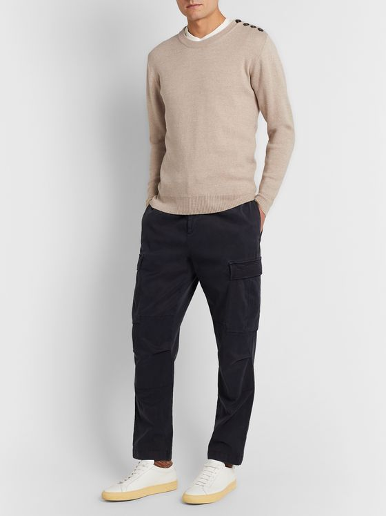 Caruso Button-Detailed Wool Sweater