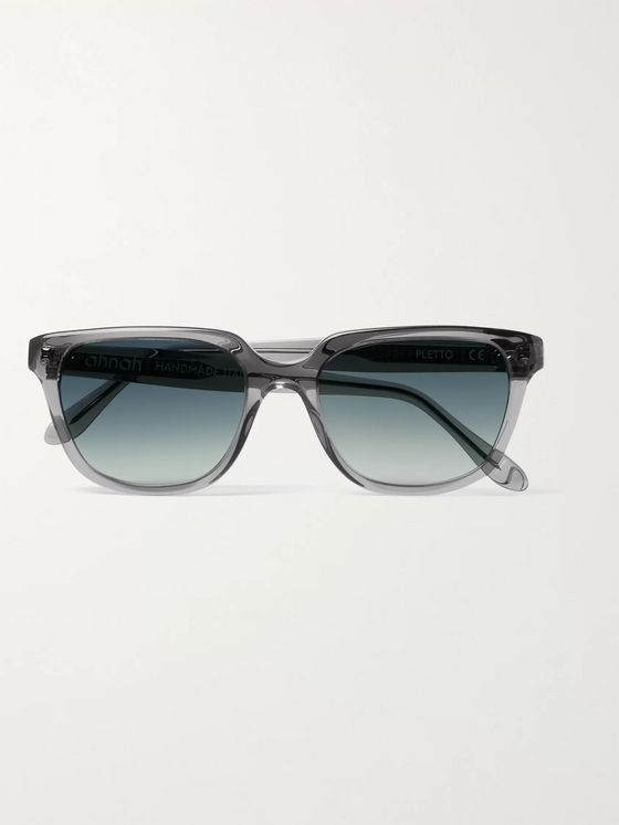 ahnah Pletto Square-Frame Bio-Acetate Sunglasses