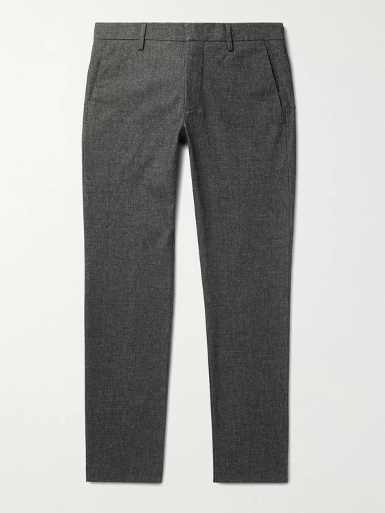 NN07 Theo Tapered Mélange Twill Chinos