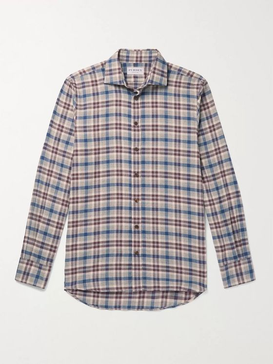 Purdey Checked Cotton and Wool-Blend Flannel Shirt