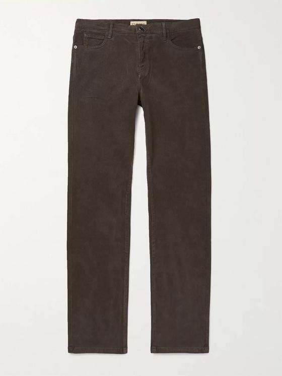 Purdey Stretch Lyocell and Cotton-Blend Twill Trousers