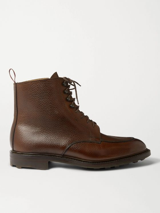Purdey Full-Grain Leather Lace-Up Boots
