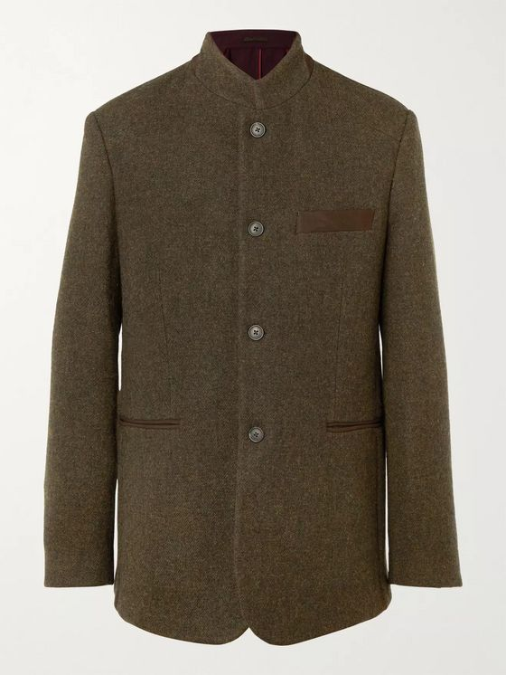 Purdey Hawick Unstructured Wool and Cashmere-Blend Tweed Blazer