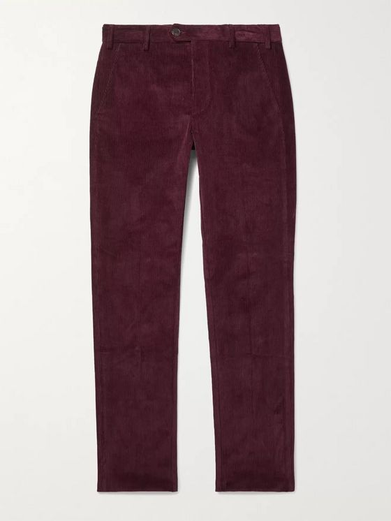 Purdey Slim-Fit Stretch-Cotton Corduroy Trousers