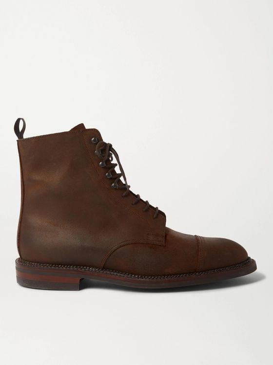 PURDEY Rough Out Nubuck Boots