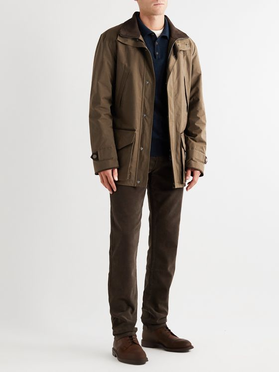 Purdey Dry Wax Cotton-Blend Jacket