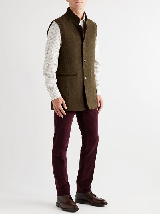 PURDEY Hawick Wool and Cashmere-Blend Tweed Gilet