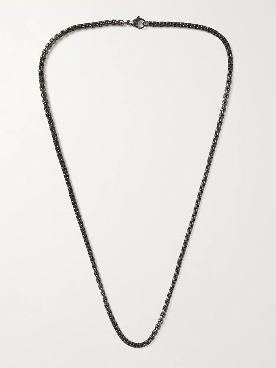 David Yurman Blackened Sterling Silver Chain Necklace
