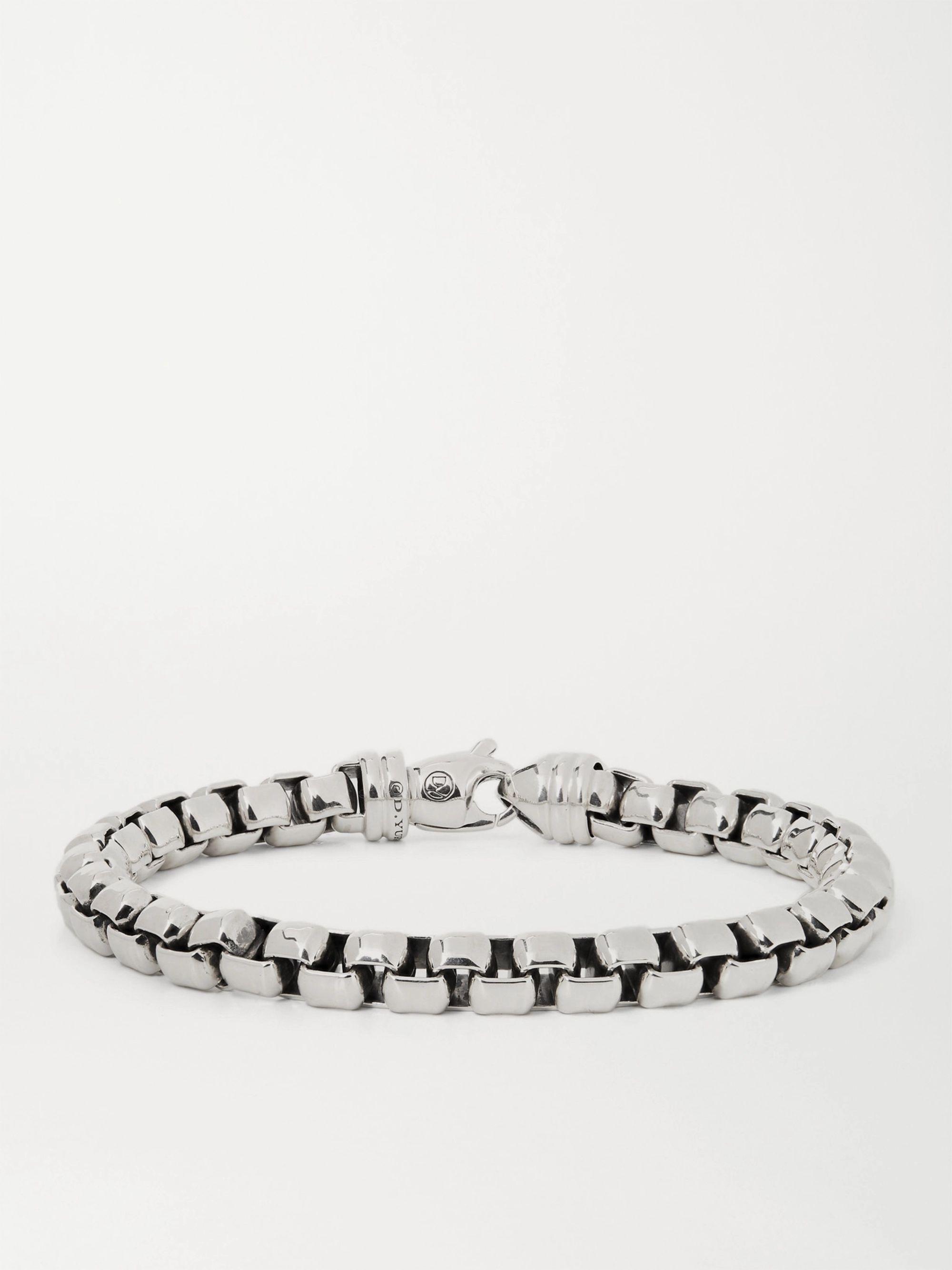데이비드 율만 팔찌 DAVID YURMAN Sterling Silver Chain Bracelet