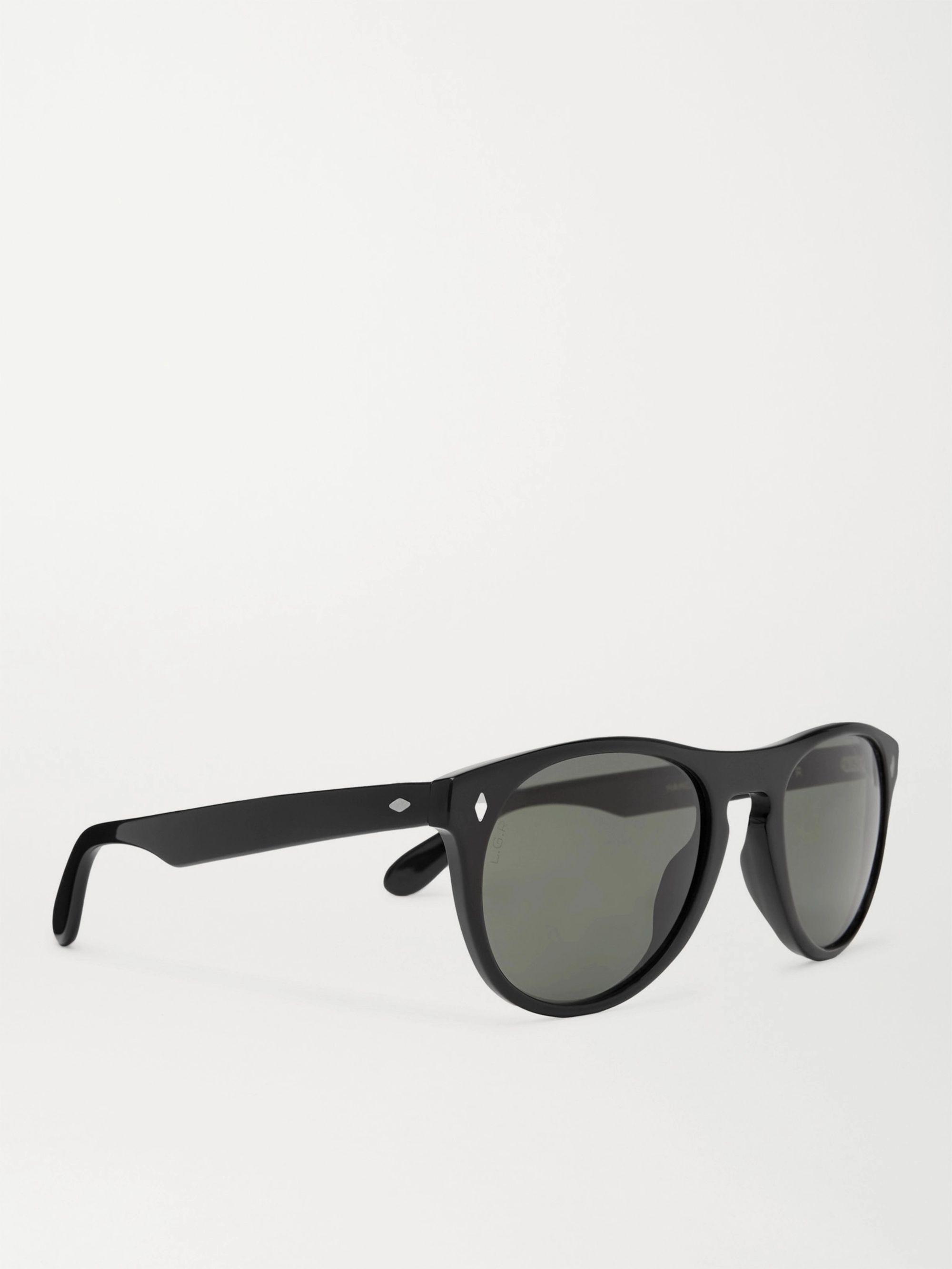 Black Abidjan Round-frame Acetate Sunglasses   L.g.r