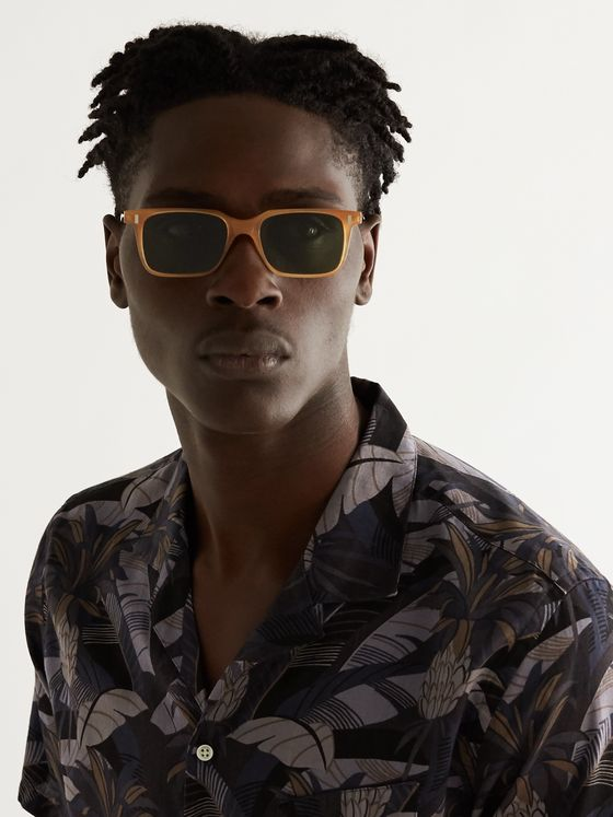 L.G.R Square-Frame Acetate Sunglasses