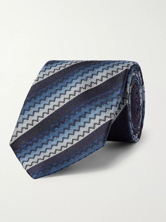 Missoni 7cm Crochet-Knit Silk Tie