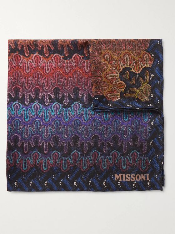 Missoni Printed Silk-Twill Pocket Square