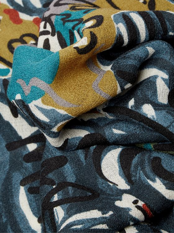 Missoni Home Fringed Printed Wool Throw