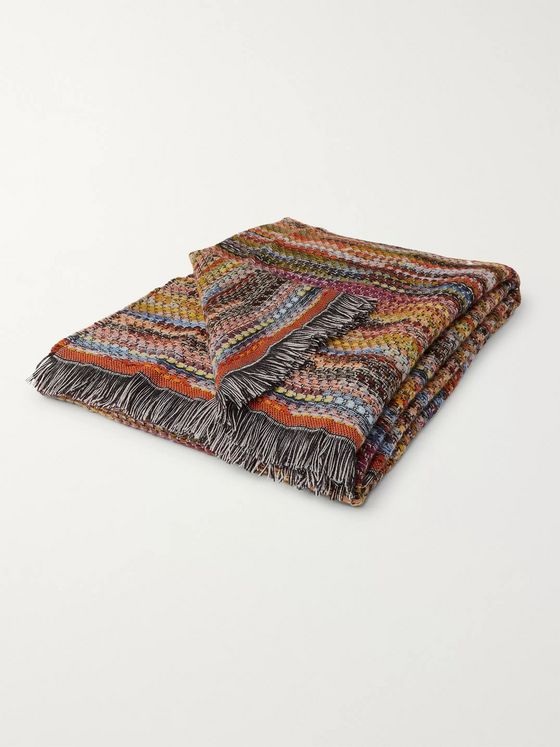 Missoni Home Venere Fringed Striped Wool-Blend Throw