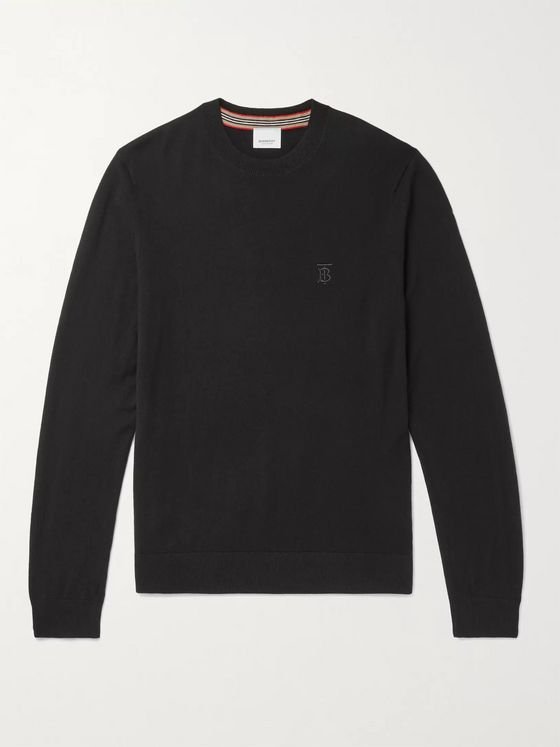 Burberry Logo-Embroidered Cashmere Sweater