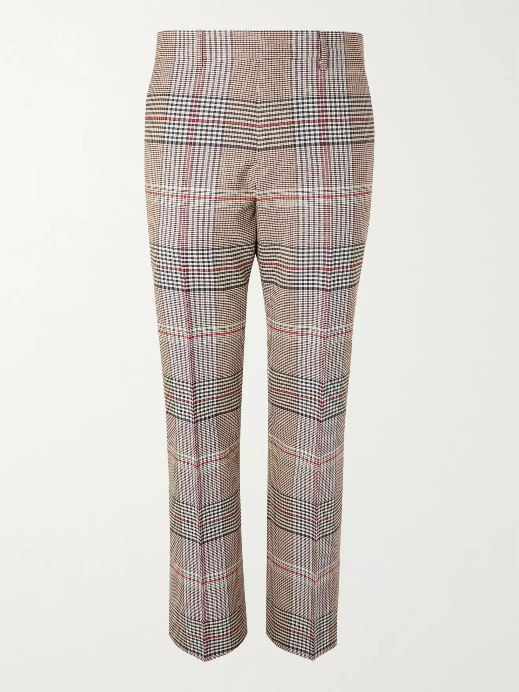 BURBERRY Checked Wool Trousers