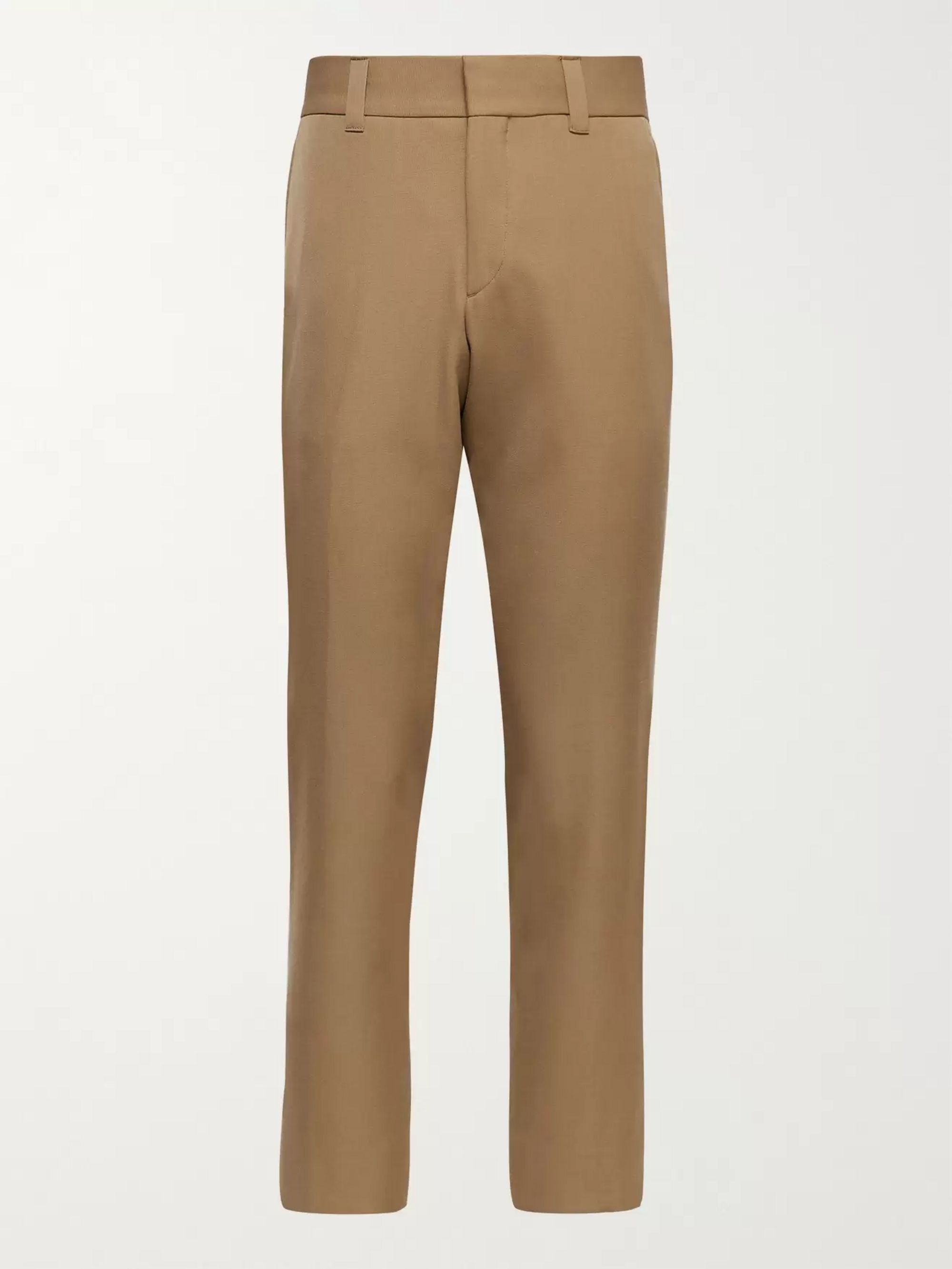BURBERRY Slim-Fit Tapered Wool Trousers