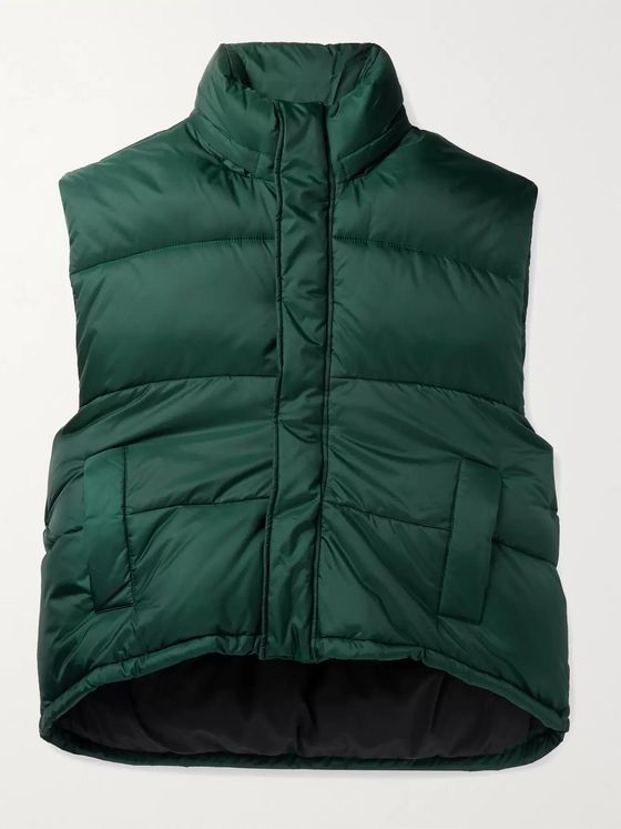 Balenciaga Quilted Padded Hooded Shell Gilet