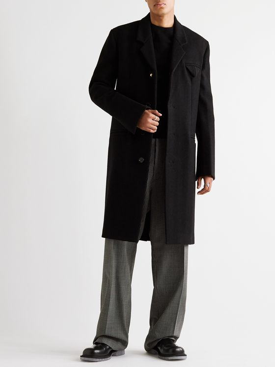 Bottega Veneta Herringbone Wool-Blend Coat