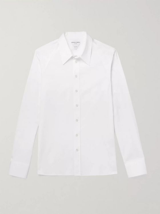 BOTTEGA VENETA Slim-Fit Cotton-Blend Poplin Shirt