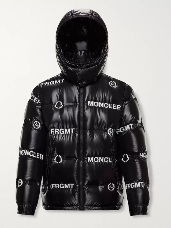 Moncler Genius 7 Moncler Fragment Mayconne Logo-Print Nylon Hooded Down Jacket