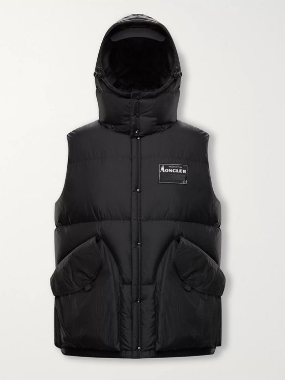 Moncler Genius 7 Moncler Fragment Kyle Logo-Appliquéd Nylon Hooded Down Gilet