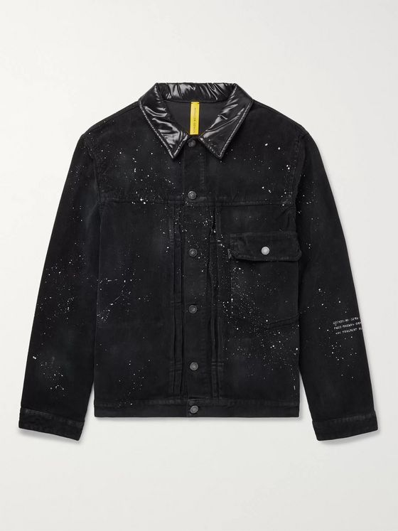 Moncler Genius 7 Moncler Fragment Shell-Trimmed Paint-Splattered Cotton-Corduroy Jacket