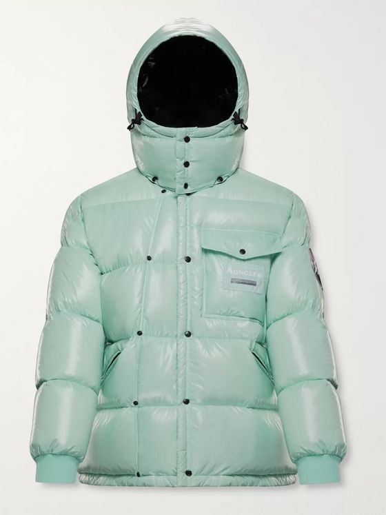 Moncler Genius 7 Moncler Fragment Anthemy Logo-Appliquéd Quilted Nylon Hooded Down Jacket
