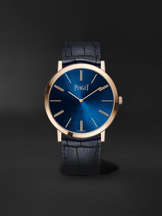 Piaget Altiplano Hand-Wound 38mm 18-Karat Rose Gold and Alligator Watch, Ref. No. G0A45050