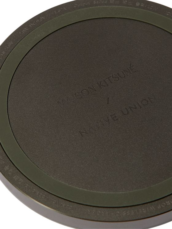 NATIVE UNION + Maison Kitsuné Drop Logo-Detailed Wireless Charger