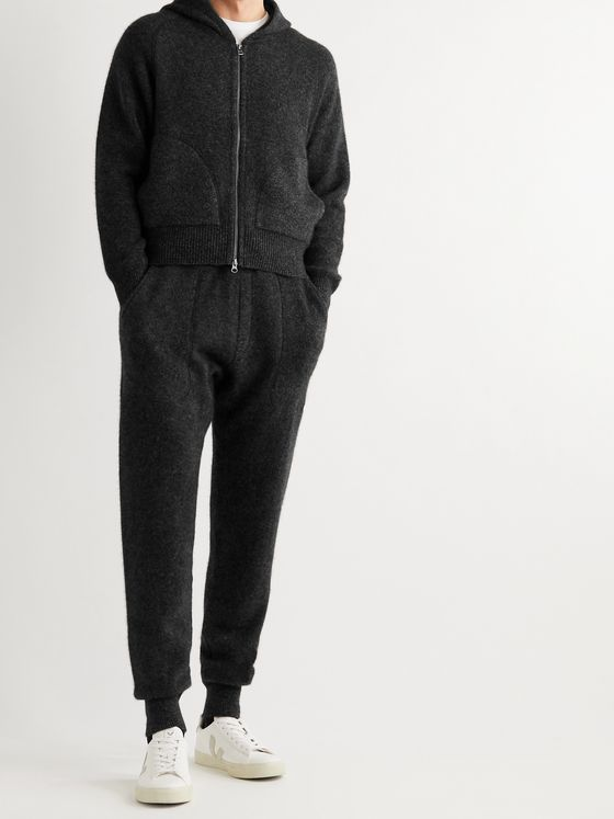 YINDIGO AM Mélange Cashmere Zip-Up Hoodie