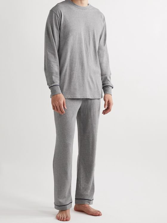 Sleepy Jones Marcel Cotton-Blend Jersey Pyjama Trousers