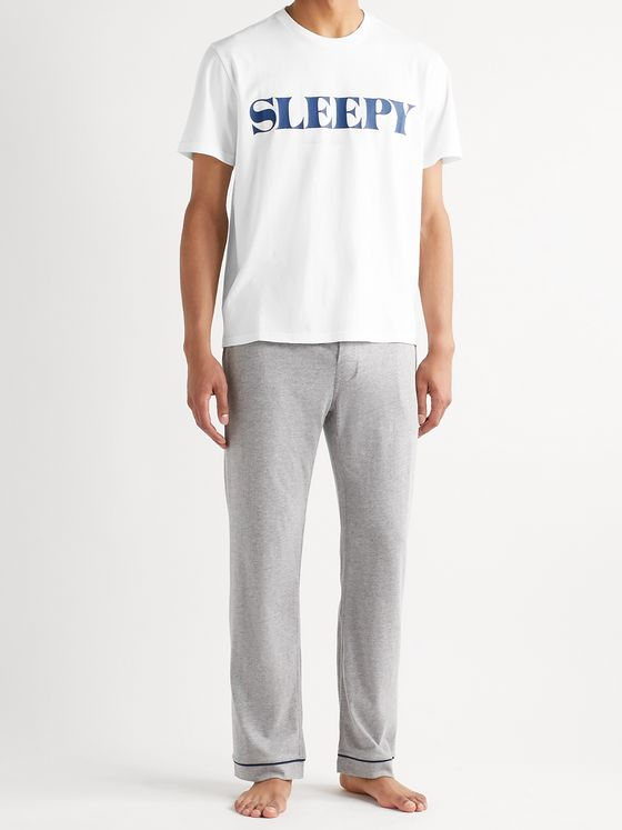 Sleepy Jones Jackson Logo-Print Cotton-Jersey T-Shirt