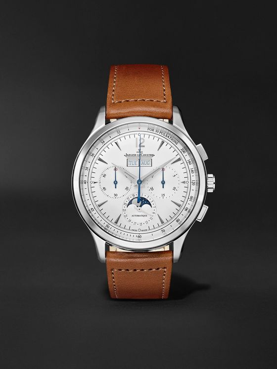 Jaeger-LeCoultre Master Control Calendar Automatic Chronograph 40mm Stainless Steel and Leather Watch, Ref No. 4138420