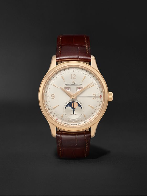JAEGER-LECOULTRE Master Control Calendar Automatic 40mm 18-Karat Rose Gold and Alligator Watch, Ref No. Q4142520