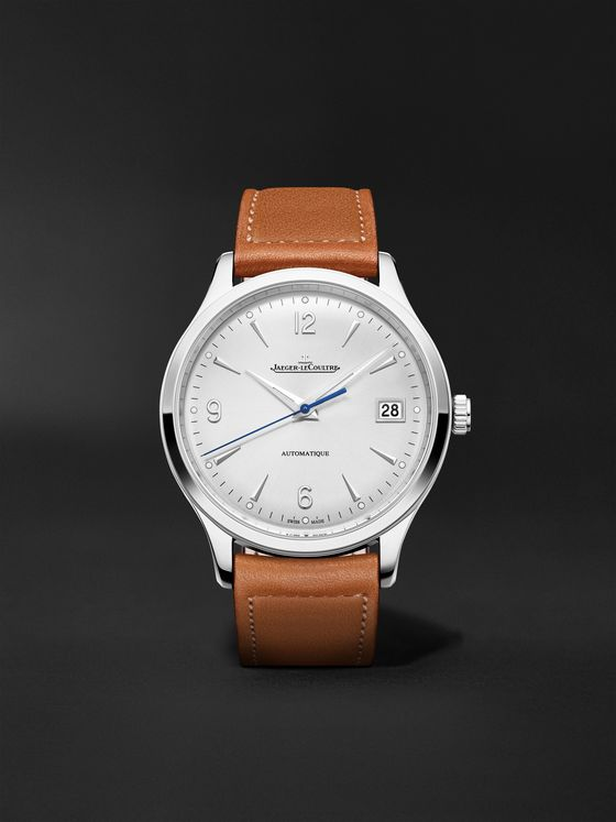 JAEGER-LECOULTRE Master Control Date Automatic 40mm Stainless Steel and Leather Watch, Ref No. 4018420