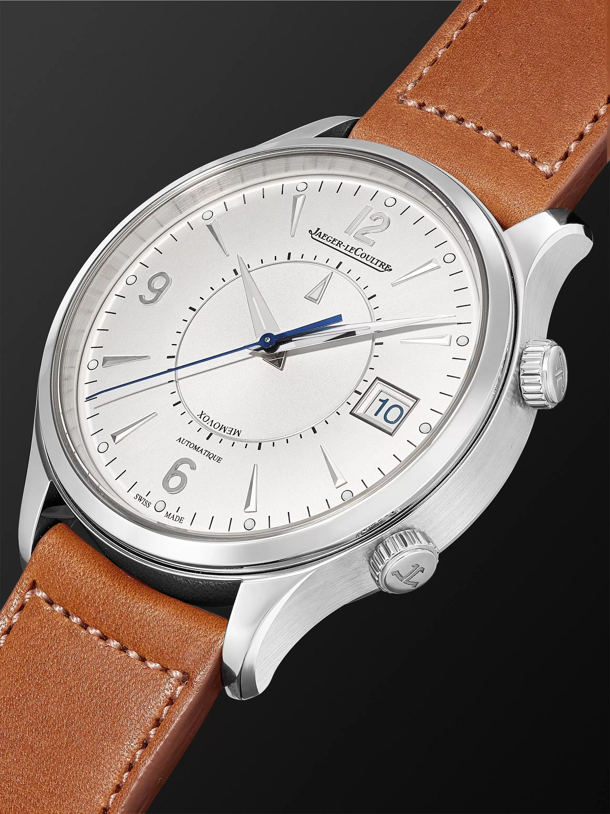 JAEGER-LECOULTRE Master Control Memovox Automatic 40mm Stainless Steel and Leather Watch, Ref. No. Q4118420