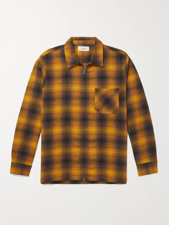 Mr P. Checked Flannel Zip-Up Shirt