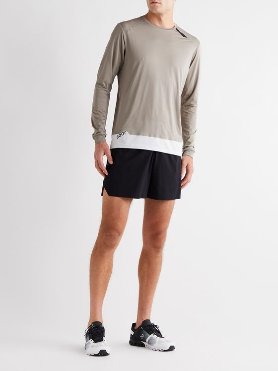 Soar Running Tech-T Contrast-Tipped Mesh Running T-Shirt
